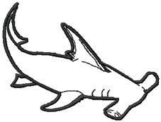 Drawn shark hammerhead shark Drawings Hammerhead Hammerhead drawings Embroidery