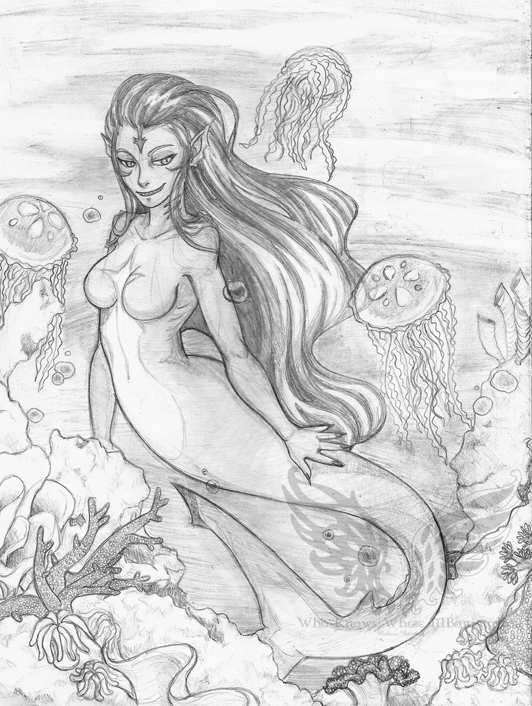 Drawn shark mermaid Off sharks Search coral in