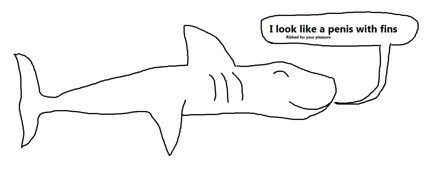 Drawn shark open mouth Draw Open close SHARK close