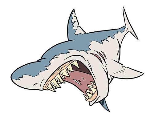 Drawn shark open mouth Photo#15 Mouth Open mouth drawing