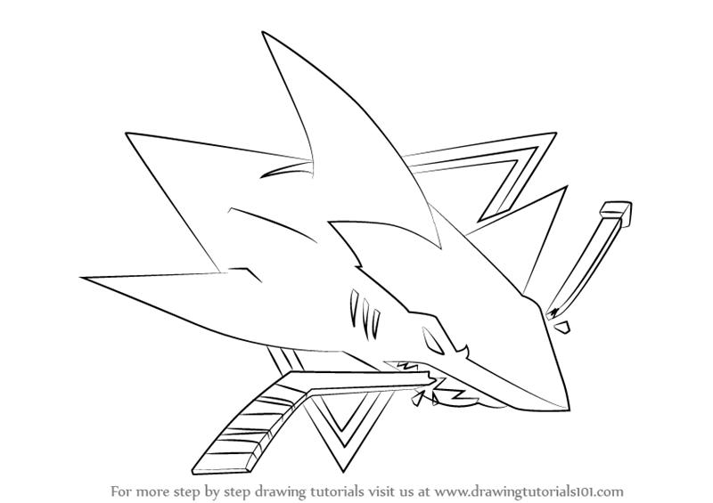 Drawn shark symbol By Learn  to Logo