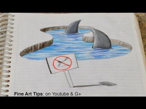 Drawn shark trick  on Notebook! my Sharks