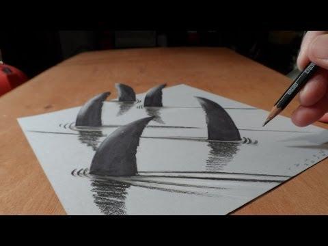 Drawn shark trick YouTube  Sharks YouTube Sharks