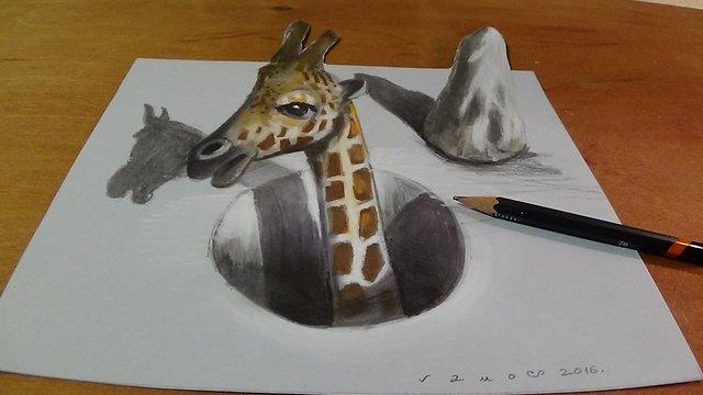 Drawn shark vamos Great Drawing an 3D Hole
