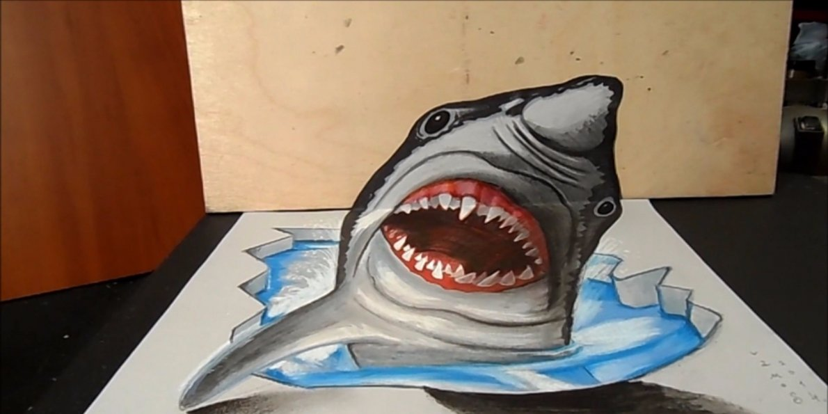 Drawn shark vamos  Business drawing shark 3D