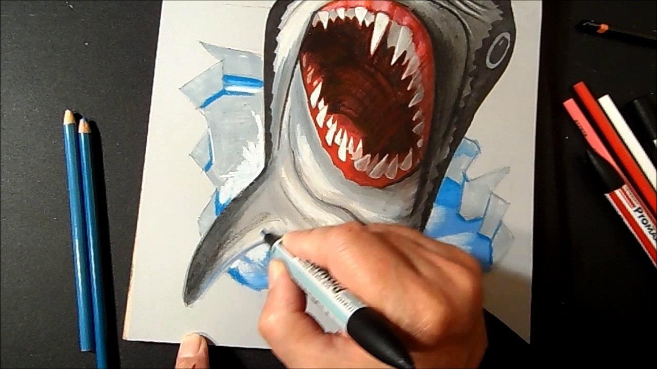 Drawn shark vamos Video Drawing Shark Great White
