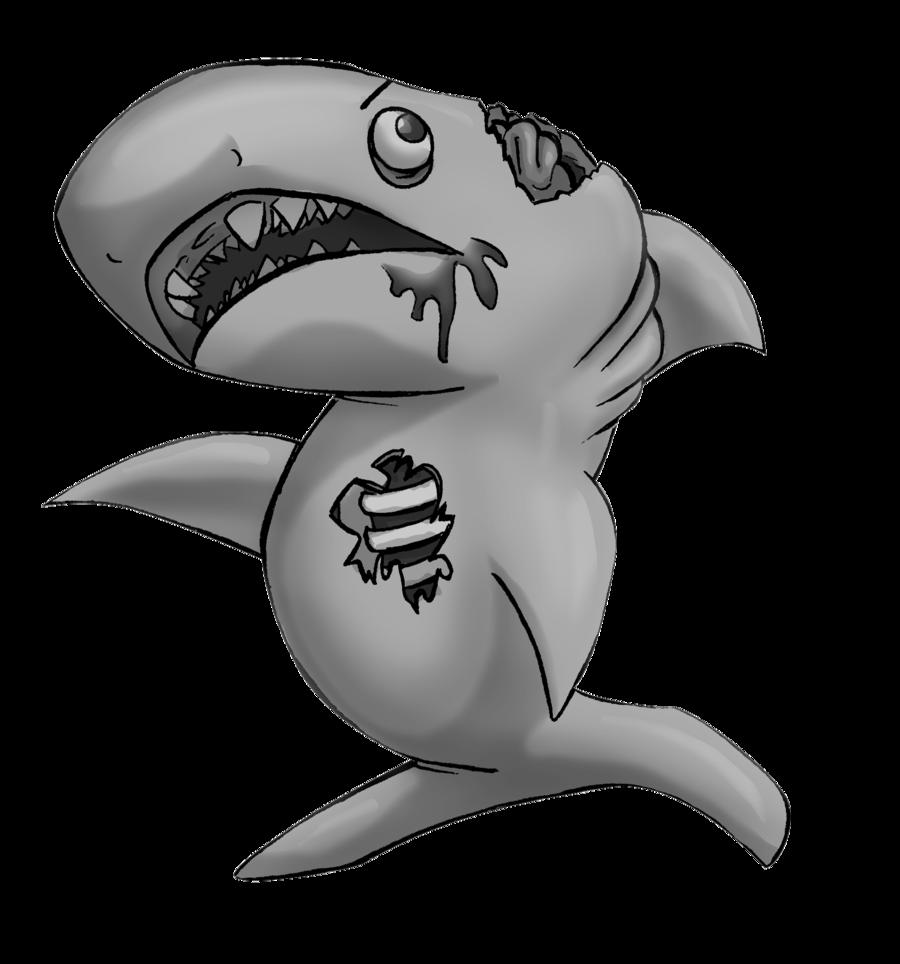 Drawn shark zombie shark  by SHARK Zombie DeviantArt