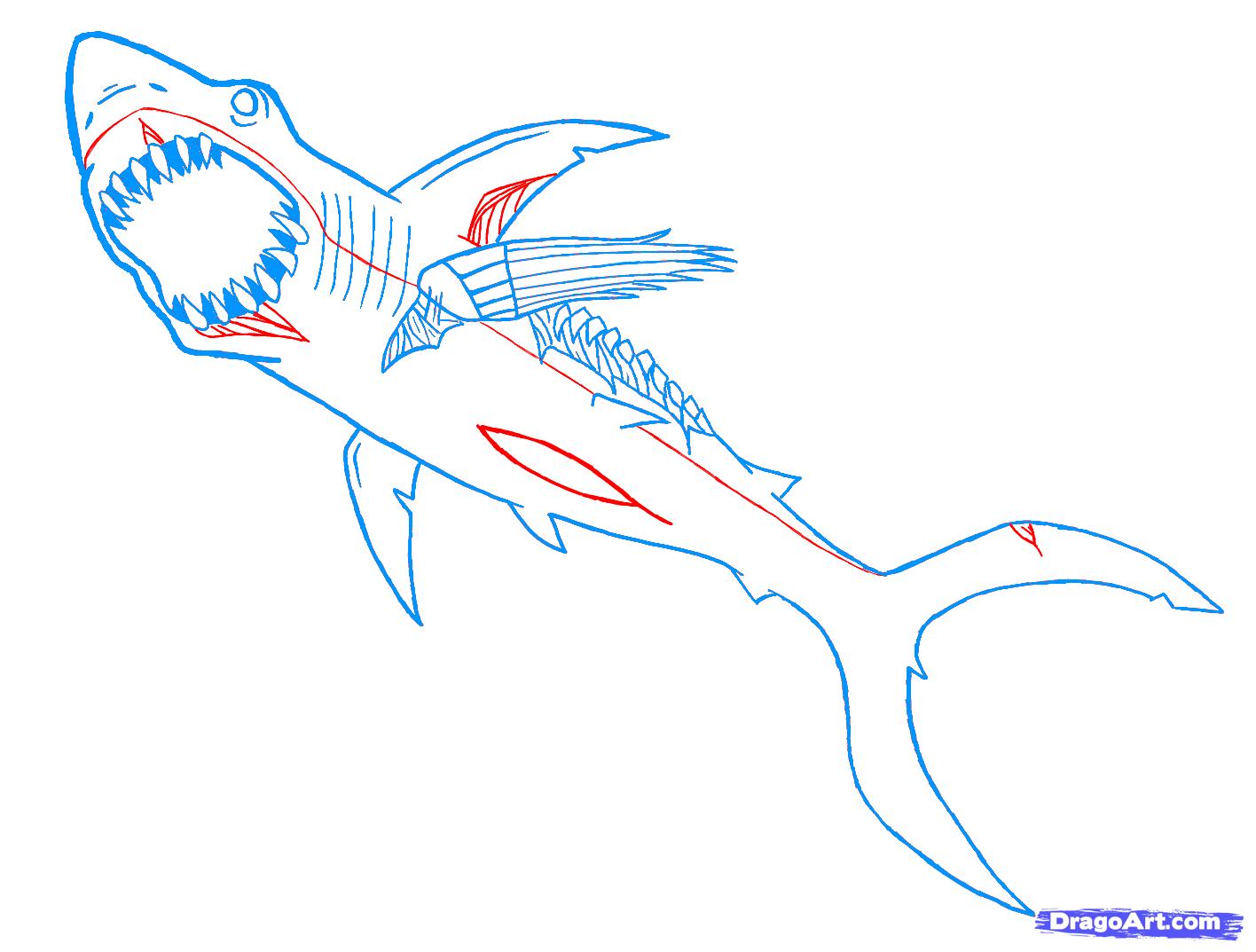 Drawn shark zombie shark How shark by Monsters Draw