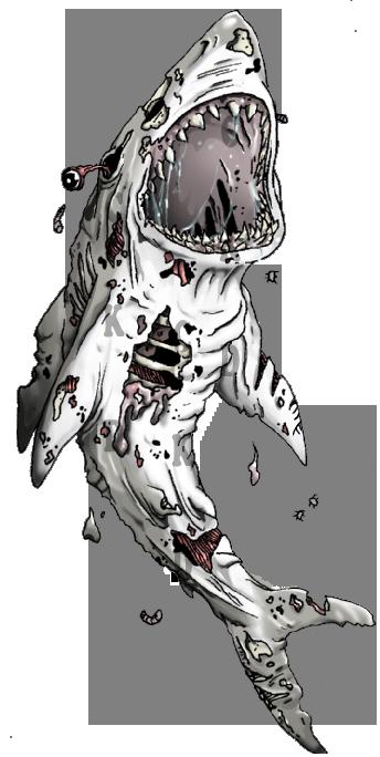 Drawn shark zombie shark Zombie on Shark by Shark