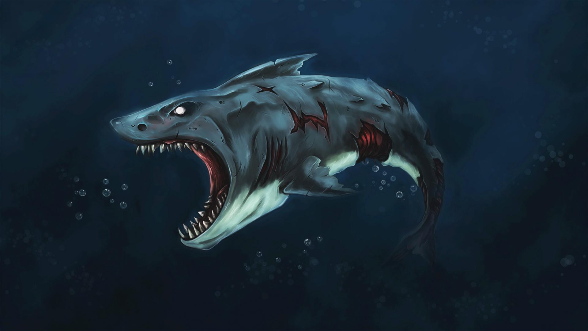 Drawn shark zombie shark  Fate Fate Zombie Shark