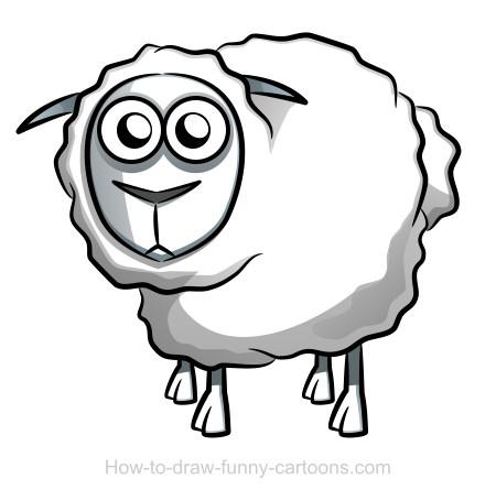 Drawn sheep (Sketching Sheep Sheep vector) drawing