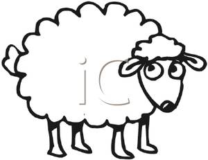 Drawn sheep cartoon black and white Sheep%20clipart%20black%20and%20white Clipart Clipart Panda And