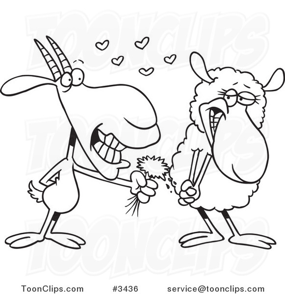 Drawn sheep cartoon black and white Black Cartoon of Giving of