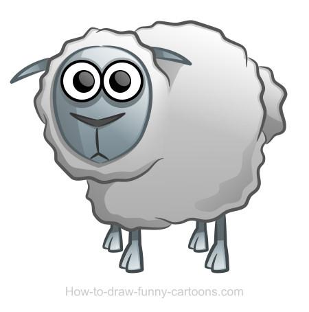 Drawn sheep funny Sheep Sheep (Sketching vector) drawing