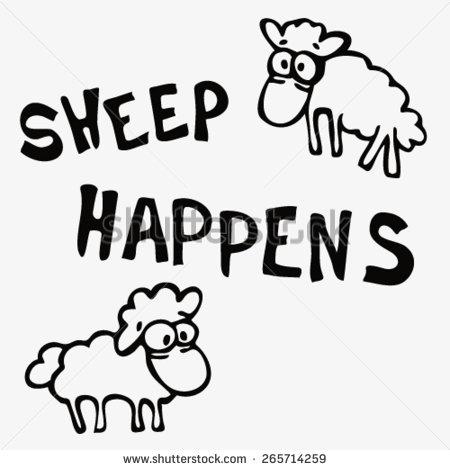 Drawn sheep funny Sheep cartoon  drawn cute