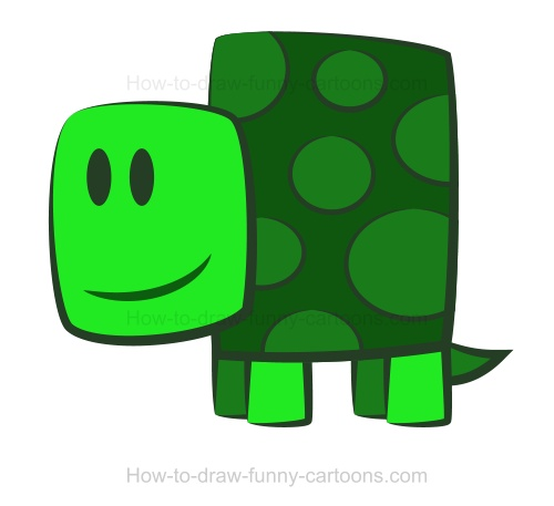 Drawn shell animated Turtle a Drawing a turtle