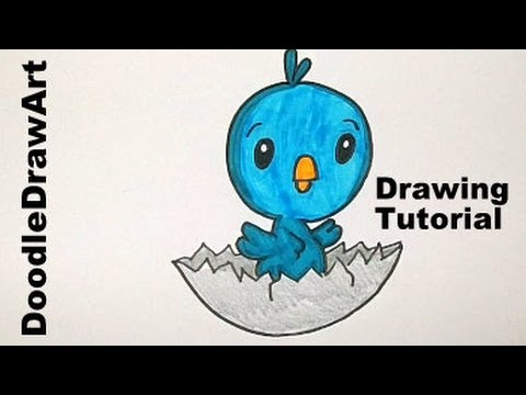 Drawn brds baby bird Cute its Cute from Shell