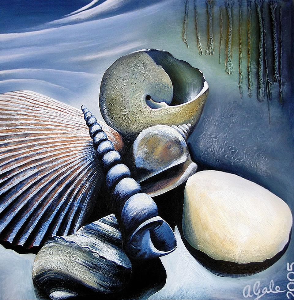 Drawn shell artist Shell painting amiria shell gale