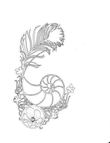 Drawn shell flower  Best deviantart for 20+
