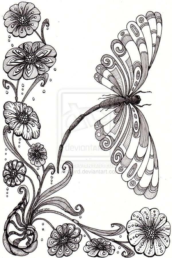 Drawn shell flower Doodle more Pin Flowers images