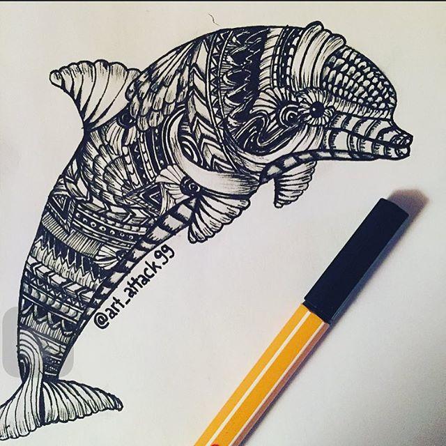 Drawn shell pen drawing #drawing Instagram pen #doodle #zentangle