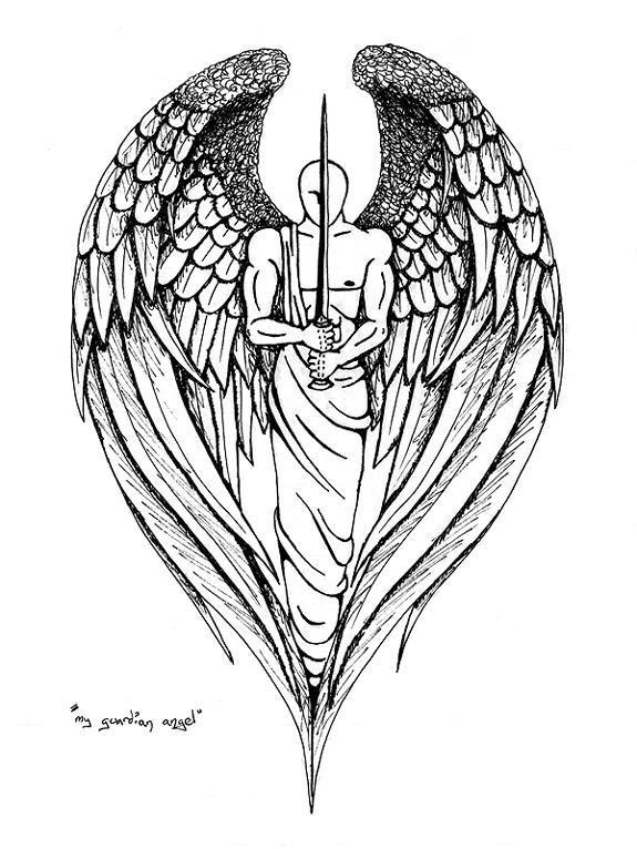 Drawn shield Tattoo Tattoo Angel Tattoo Design