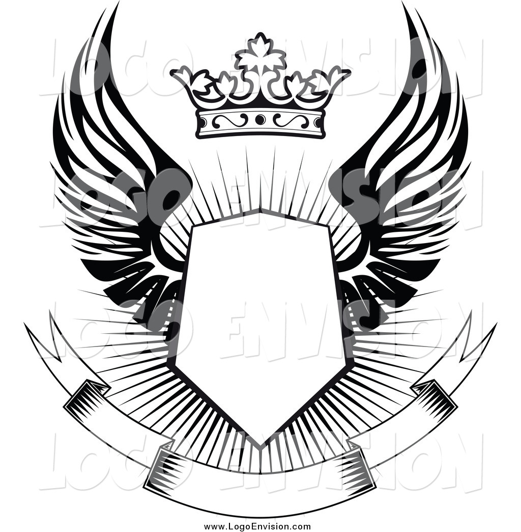 Shield clipart abstract With Google crest Search wings