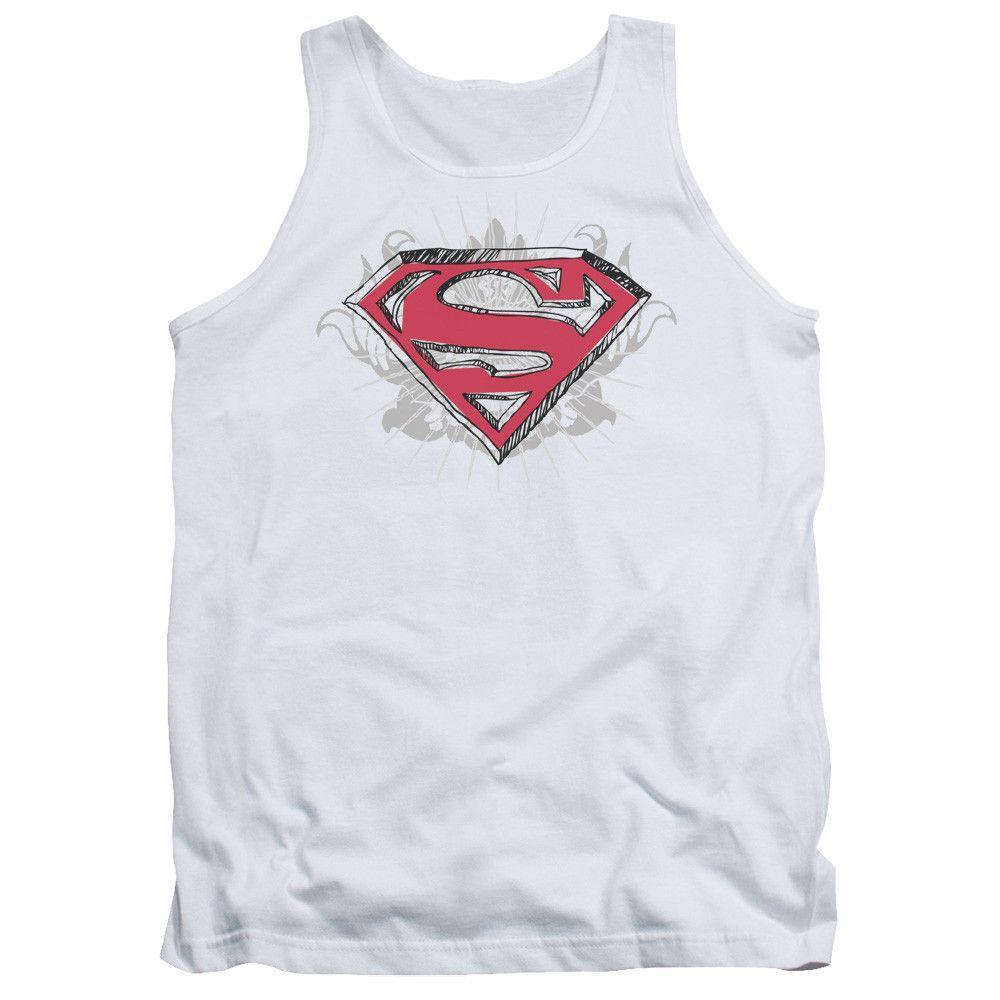 Drawn shield classic Superman/hastily Superman/hastily white adult Tank