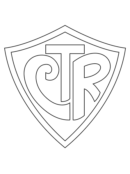 Drawn shield ctr White the Choose symbol A