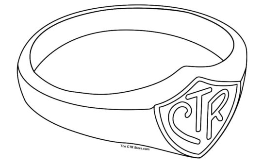 Drawn shield ctr Sheet Archives Mormon CTR Ring