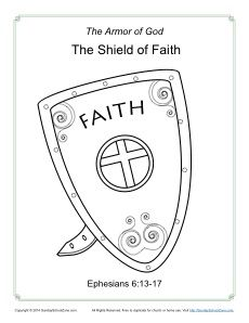 Drawn shield god is On Kids Armor Coloring of
