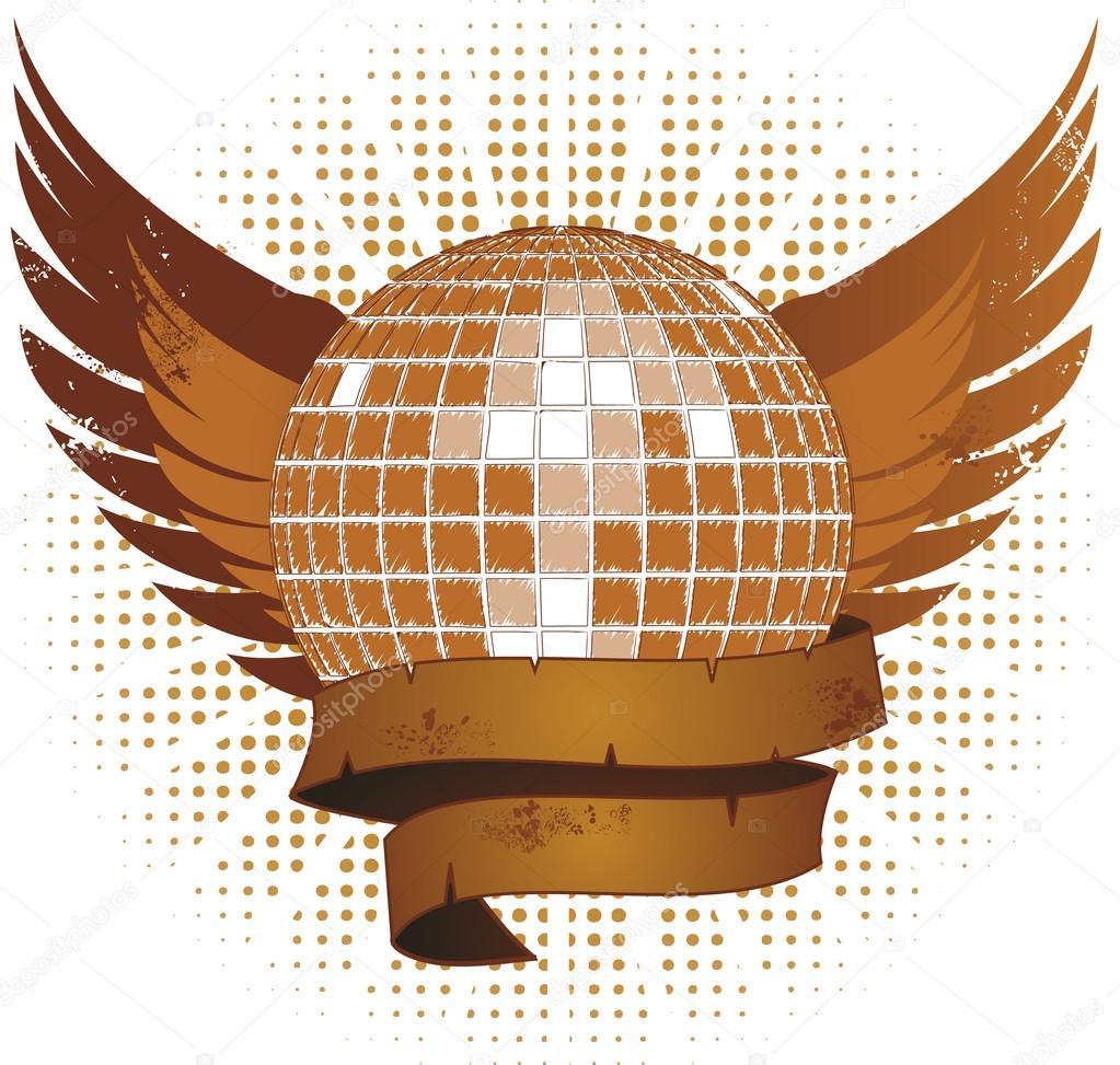 Drawn shield grunge Disco Grunge Grunge © shield