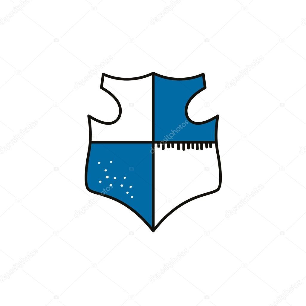 Drawn shield hand drawn Vectorfirst shield — © drawn