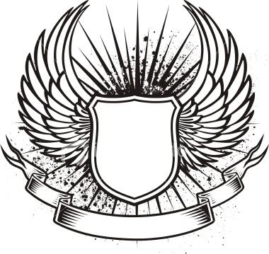 Drawn shield illustrator Tattoo on  dragon images