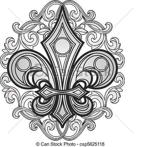 Drawn shield ornament Ornament symbol ornament of with