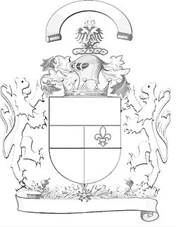 Drawn shield personal Arms coat a Wikipedia Outline