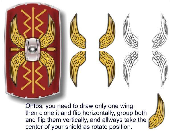 Drawn shield roman Search template Pinterest on 19