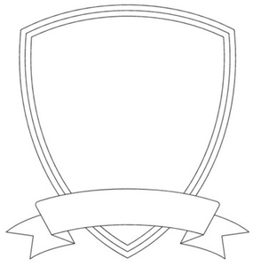 Drawn shield template vector Shield vector clip  com