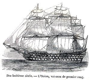 Drawn ship Océan by Fatio ship Morel