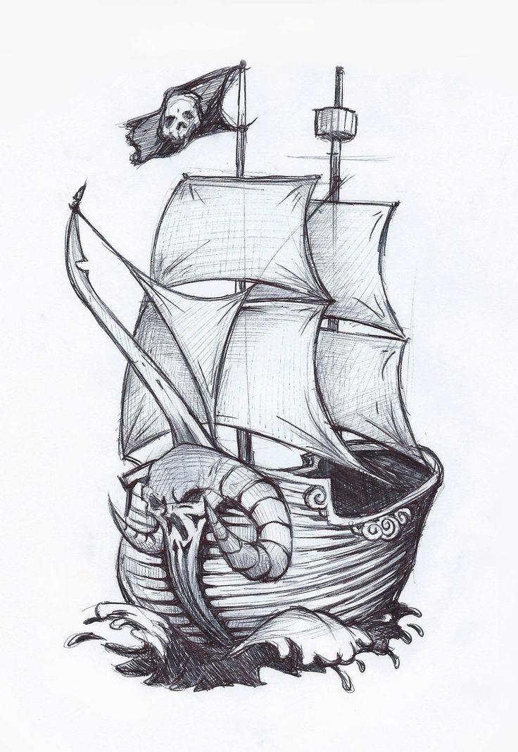 Drawn ship Pirate drawing *jafaime deviantART by