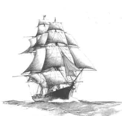 Drawn ship  SHIPS #1 DRAWING