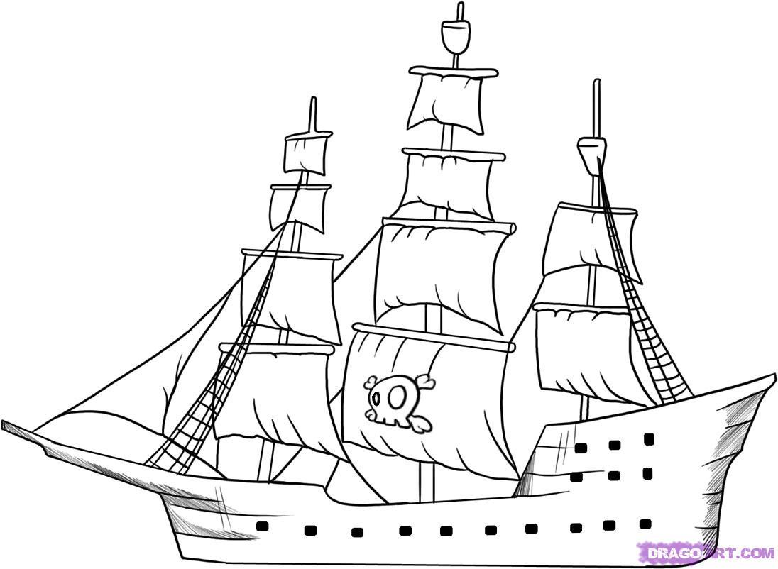 Drawn ship How draw step How ship