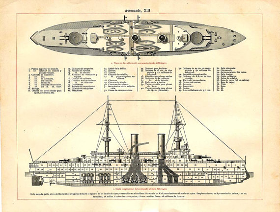 Drawn ship battleship Drawing Armoured Drawing Battleship 1900s