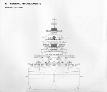 Drawn ship battleship View also Bismarck of Miscellaneous