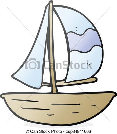 Drawn ship cartoon Cartoon Vector Art  sail