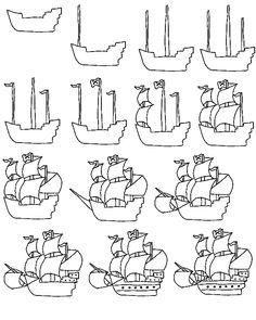 Drawn ship cartoon Rocketship Find on Tutorials Art