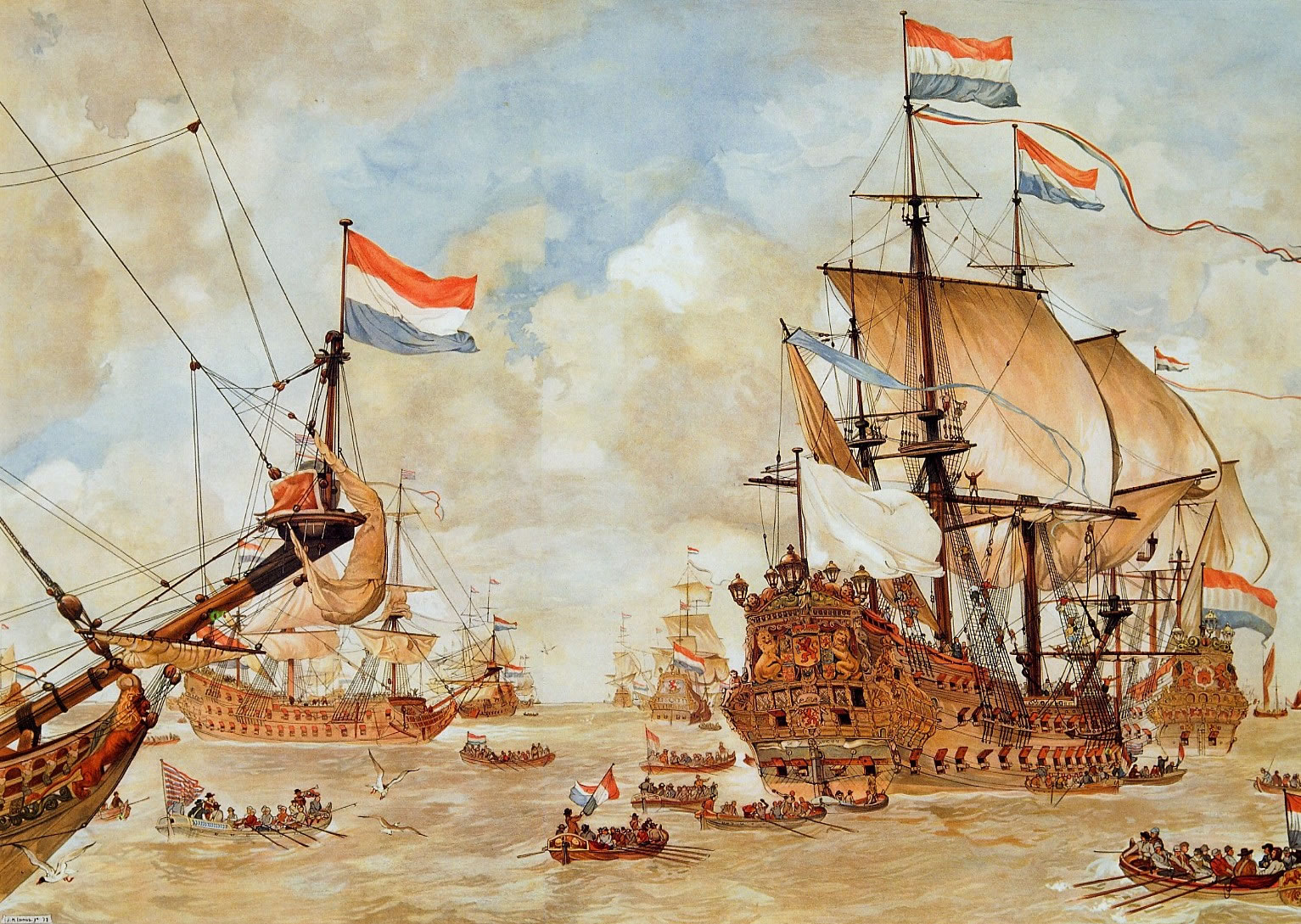Drawn ship dutch Velde the »  van