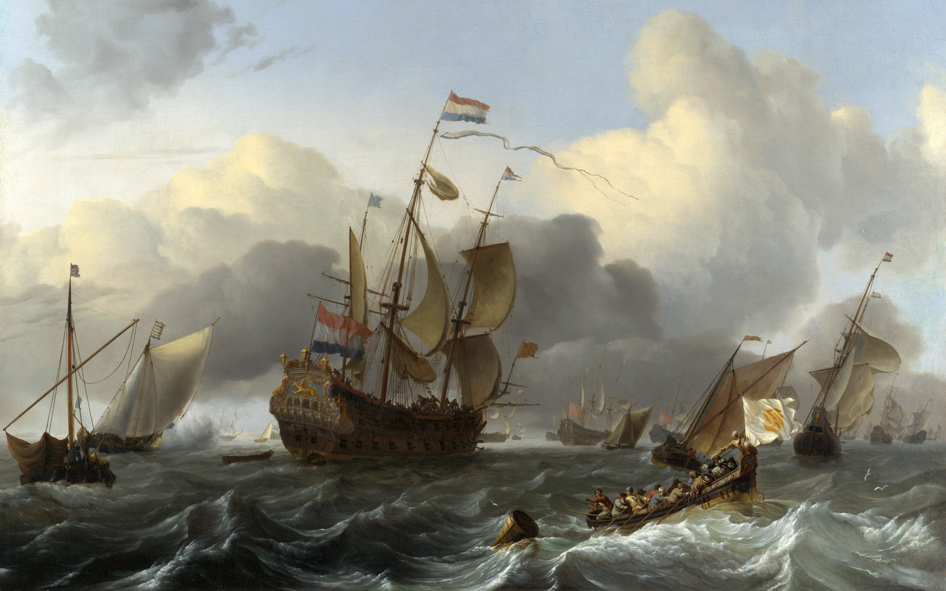 Drawn ship dutch Sailing Fleet of of »