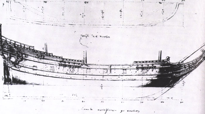 Drawn ship dutch Original maybe Dutch type I