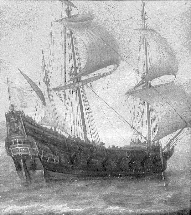 Drawn ship dutch Hoyt/e Simon Hoyt/e the &